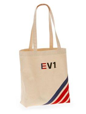 13319e5020 Product Image EV1 Striped Graphic Canvas Market Tote