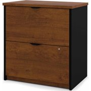 Bestar 2 Drawers Lateral Wood Composite Lockable Filing Cabinet, Brown