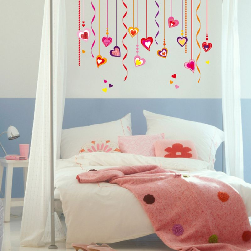 Brewster Home Fashions Wizard & Genius Hearts On Strings Wall Decal 28L 20W