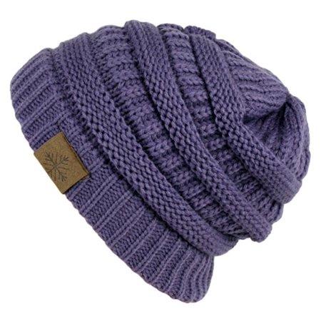 Winter Warm Thick Cable Knit Slouchy Skull Beanie Cap Hat - Walmart.com b1f29e23e70