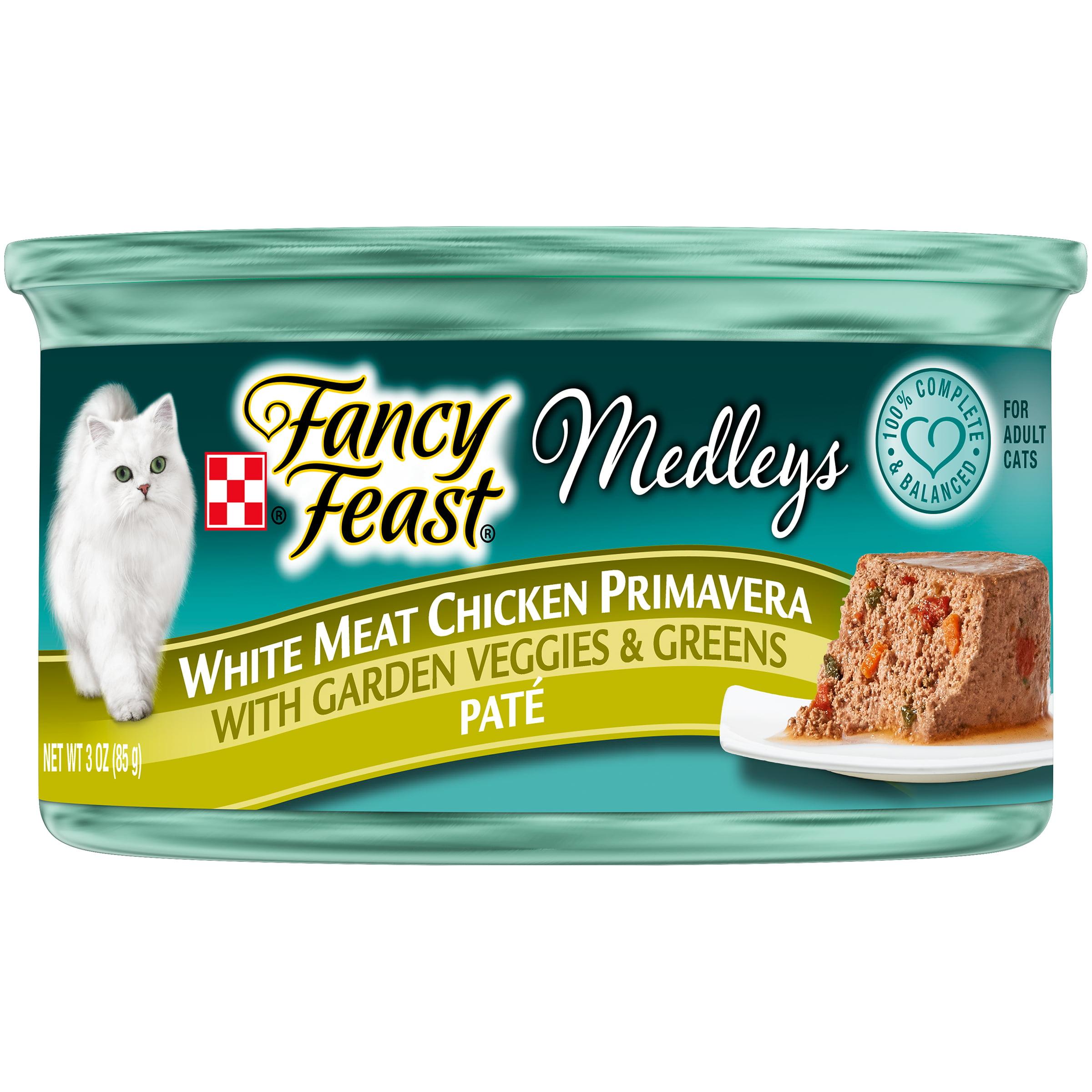 Purina Fancy Feast Medleys White Meat Chicken Primavera Paté Cat Food, 3 oz