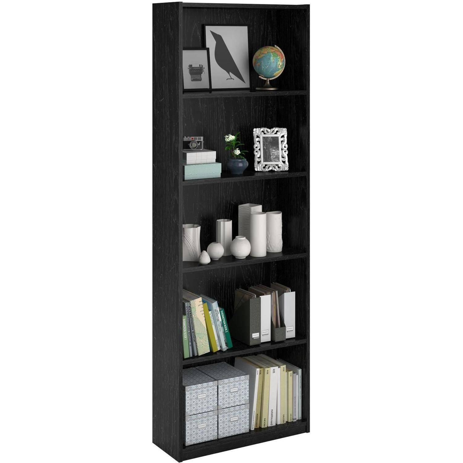 ameriwood 5 shelf bookcases set of 2 mix and match walmart