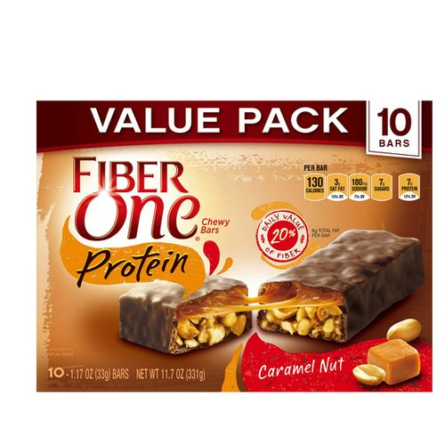 Fiber One® Protein Caramel Nut Chewy Bars 10-1.17 oz. Wrappers