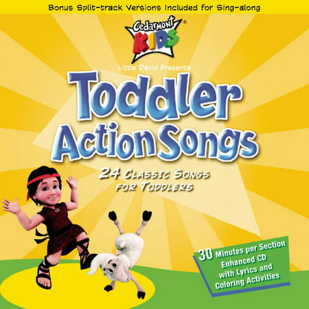 Toddler Action Songs (CD) Birthday Party Songs Cd