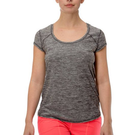Women's Open Mesh Back Performance T-Shirt Open Back Short