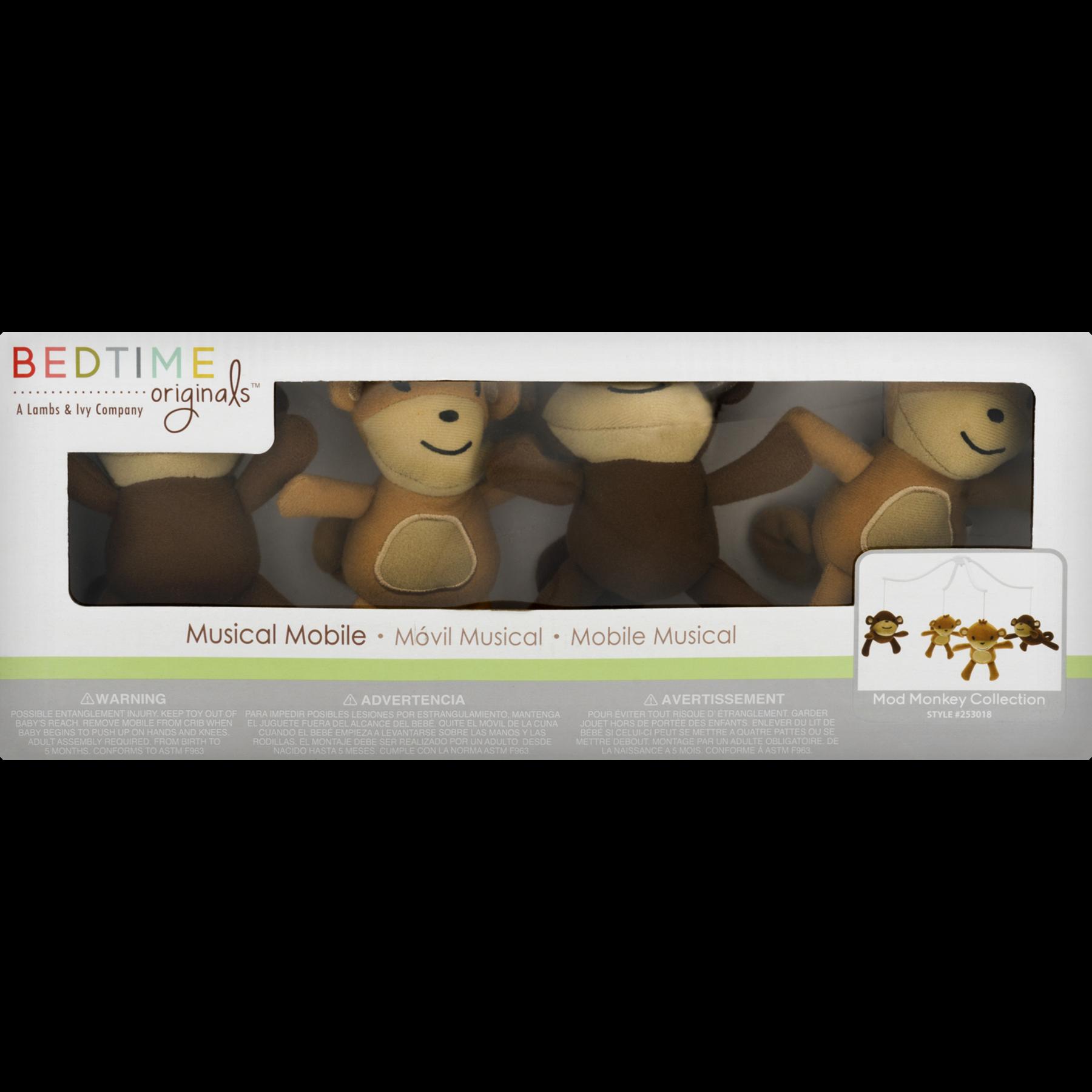 Bedtime Originals Lamp Musical Baby Crib Mobile Mod Monkey Collection Walmart Com Walmart Com