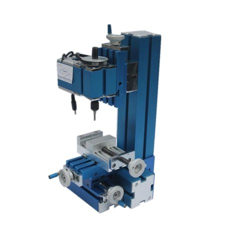 Mini Motorized Lathe Machine Milling Machine DIY Woodworking Metal Aluminum Processing Tool for Student Hobby Model