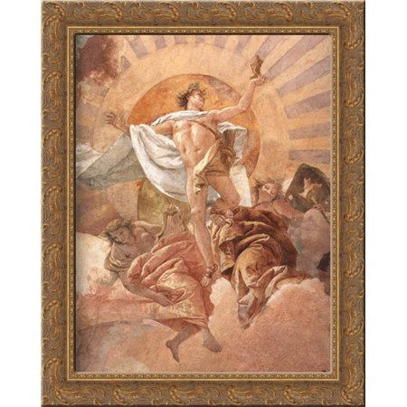Apollo And The Continents  Detail  1  20X24 Gold Ornate Wood Framed Canvas Art By Tiepolo  Giovanni Battista