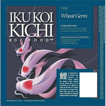 Iku Koi Kichi KKPFA20 20 lbs Wheat Germ Cool Water Feeding Fish Food