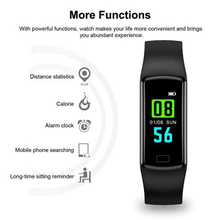 Fitness Tracker with Heart Rate Monitor Blood Pressure Smart Bracelet Color Display Sports Watch Pedometer Step Calorie for Women Men Kids - image 6 of 9