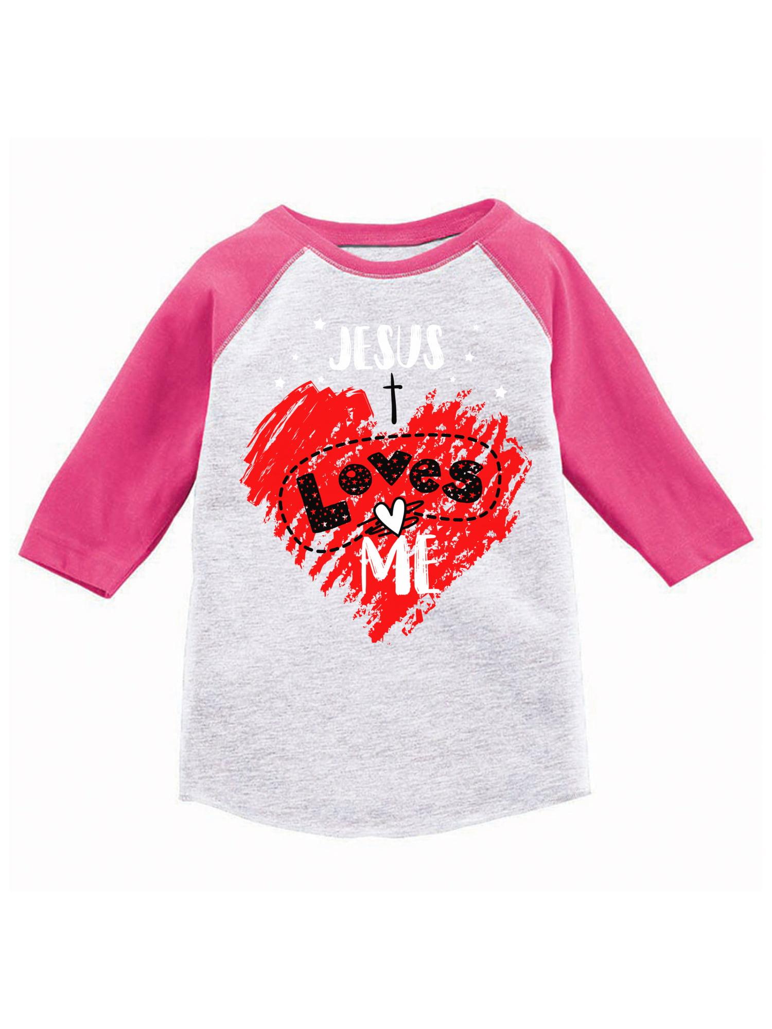 1e2e95760 Awkward Styles Jesus Loves Me Youth Raglan Kids Religious Jersey Tshirts  Cute Jesus Baseball Shirts for Boys Cute Jesus Baseball Shirts for Girls  God Lover ...