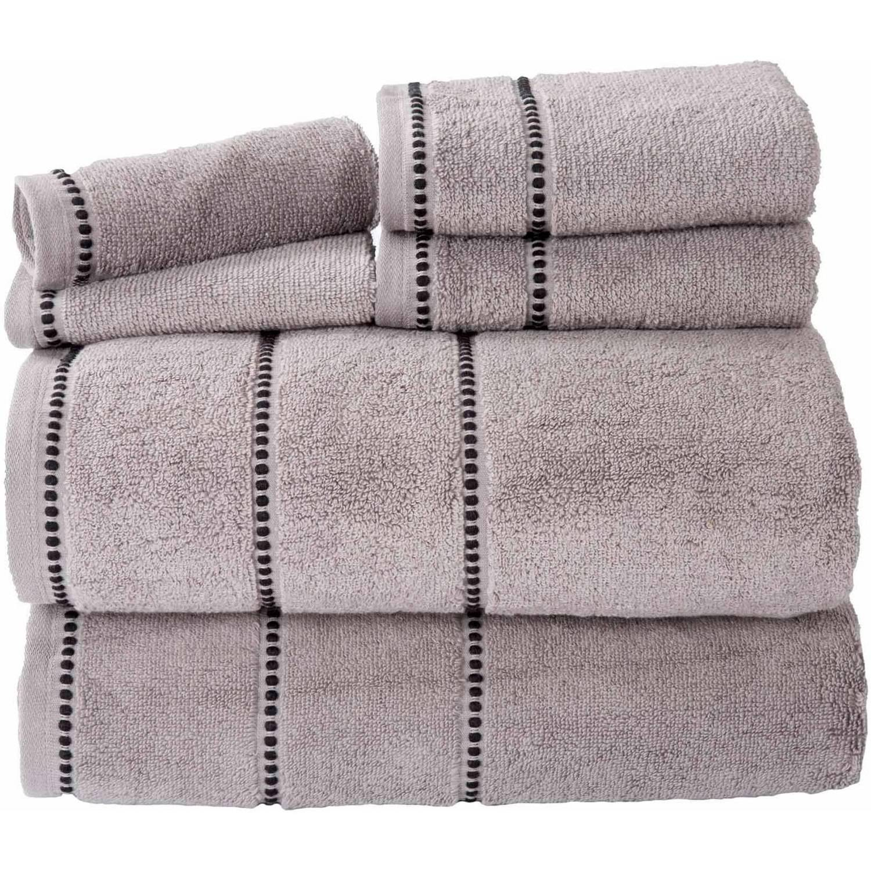 Somerset Home Quick Dry 100% Cotton Zero Twist 6-Piece Towel Set