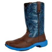 "Durango Western Boots Mens 11"" Rebel Lite Rocker Square Brown DWDB006"