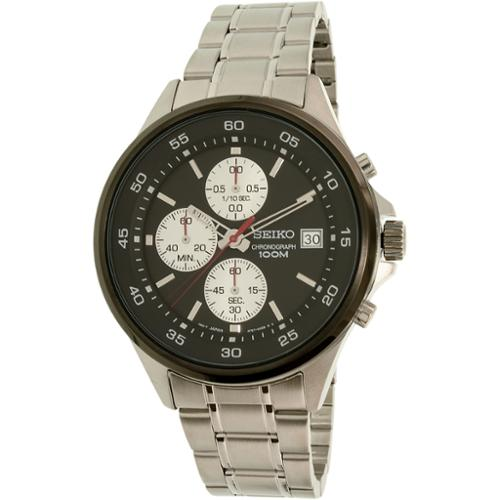Seiko Sks483p1 Men's Chrono Ss Black Dial Watch