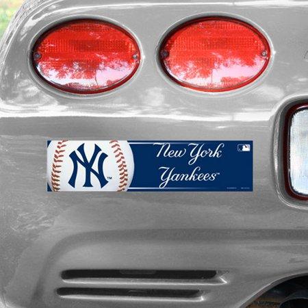 WinCraft New York Yankees 12'' x 3'' Primary Bumper Sticker