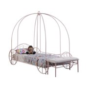 Twin Canopy Carriage Bed Powder Pink