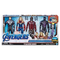 Marvel Avengers Titan Hero Series Iron Man - Captain Marvel - Star Lord - Black Panther