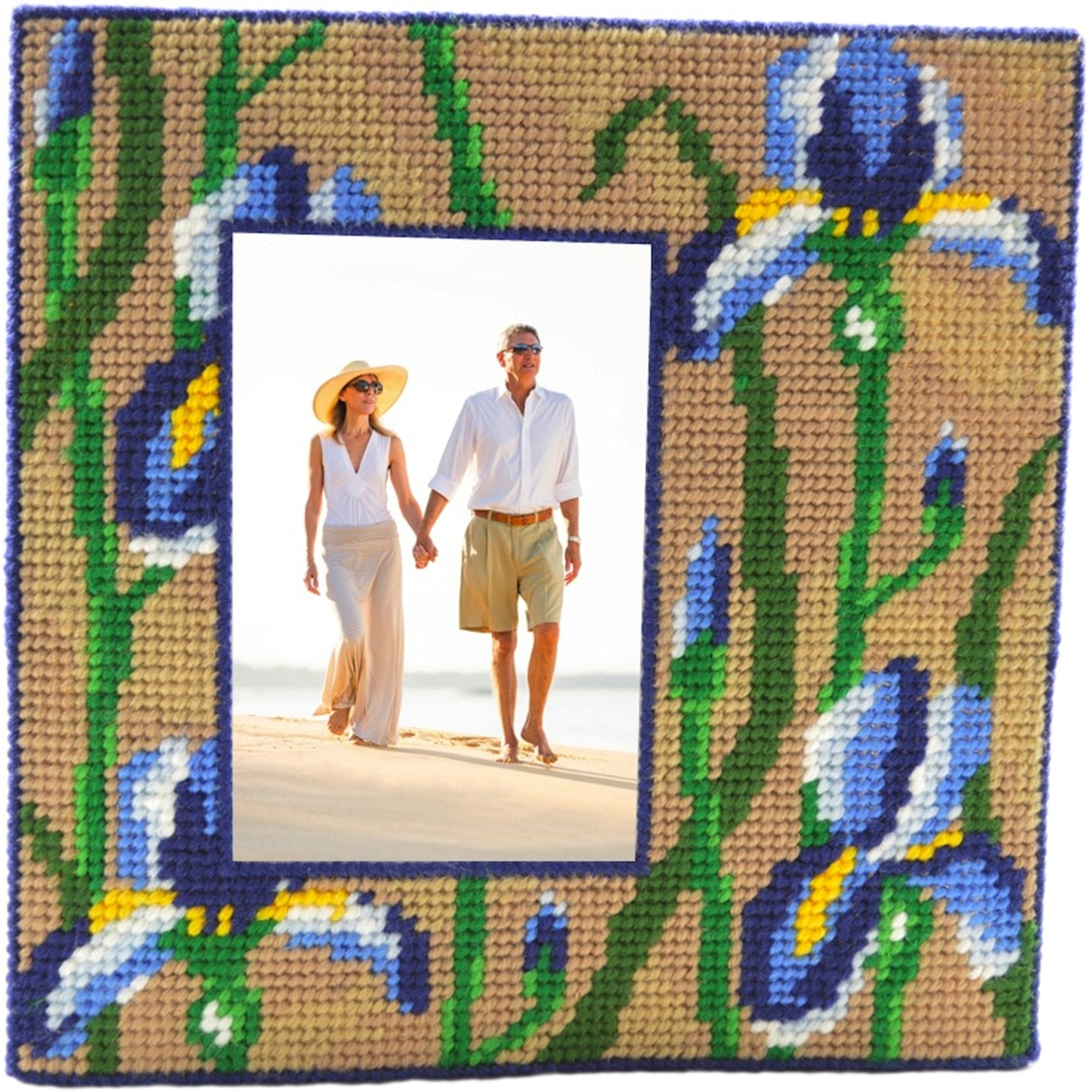 "Blue Iris Framous Plastic Canvas Kit-7.5""X7.5"" 10 Count"