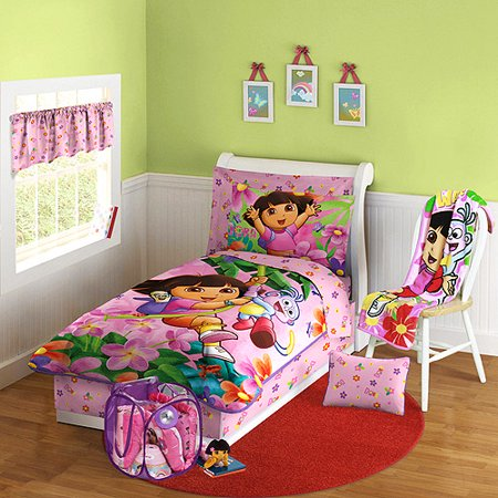 Nickelodeon Dora The Explorer 10 Piece Toddler Bed In A