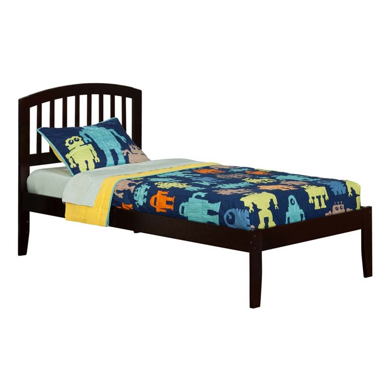 Richmond Platform Bed with Open Foot Board in, Multiple Colors and Sizes