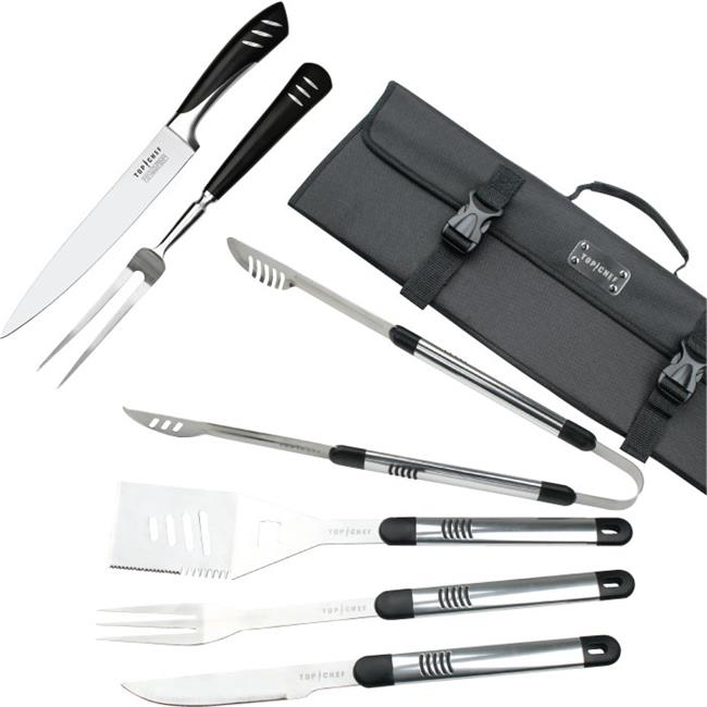 Top ChefR Stainless Steel BBQ & Carving Sets - 7 Pieces