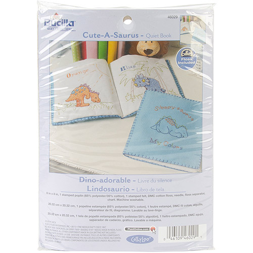 Bucilla Cutesaurus Quiet Book Stamped Cross-Stitch Kit