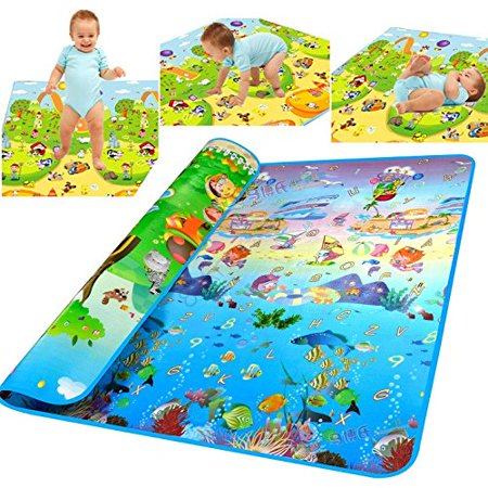 WEICO Reversible Kids Activity Mat Baby Care Play Mat, 100