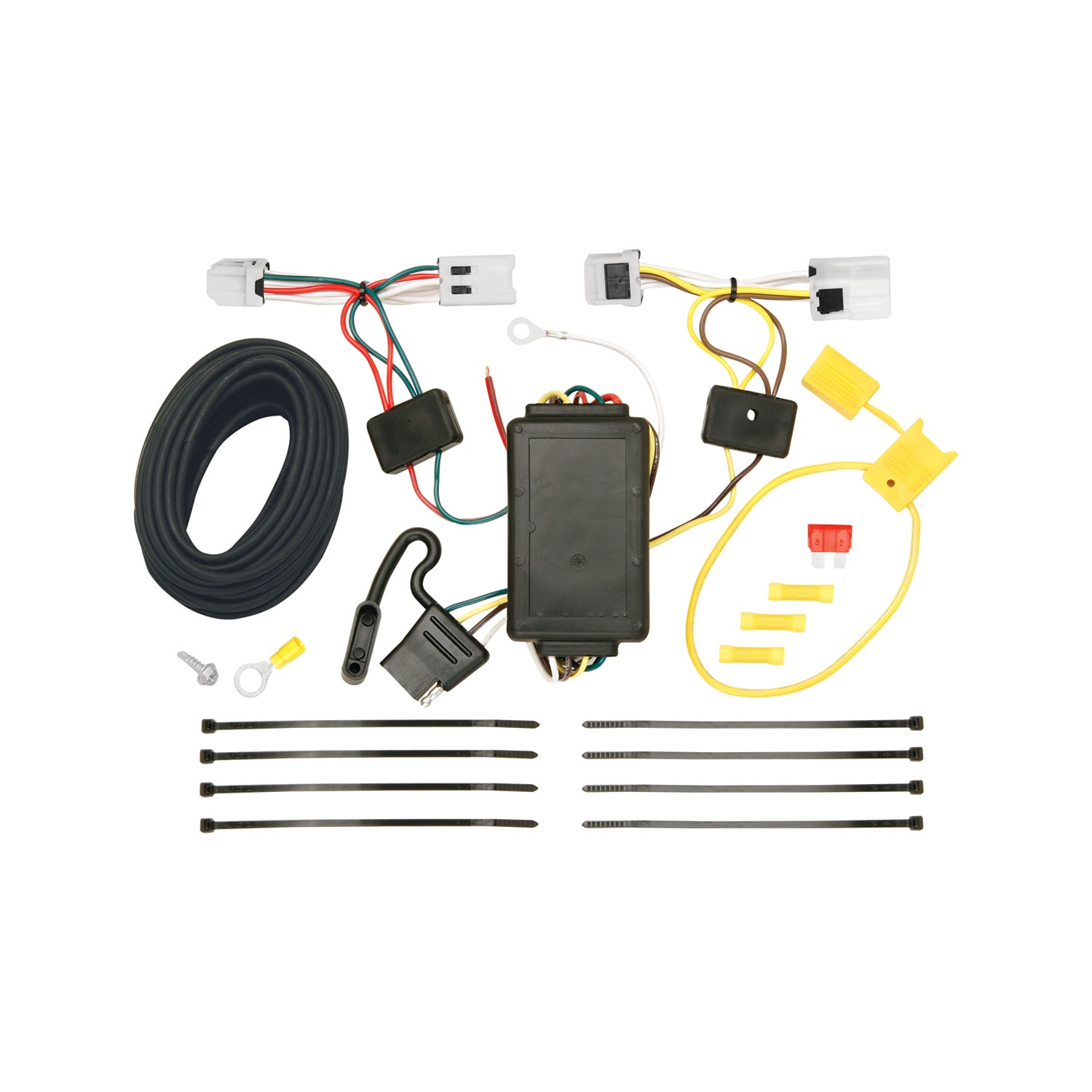 Tow Ready 118470 Wiring T-One Connector; Upgraded Circuit Protected Converter; 3 Wire System; Amp Rating 2.1; 7.5;
