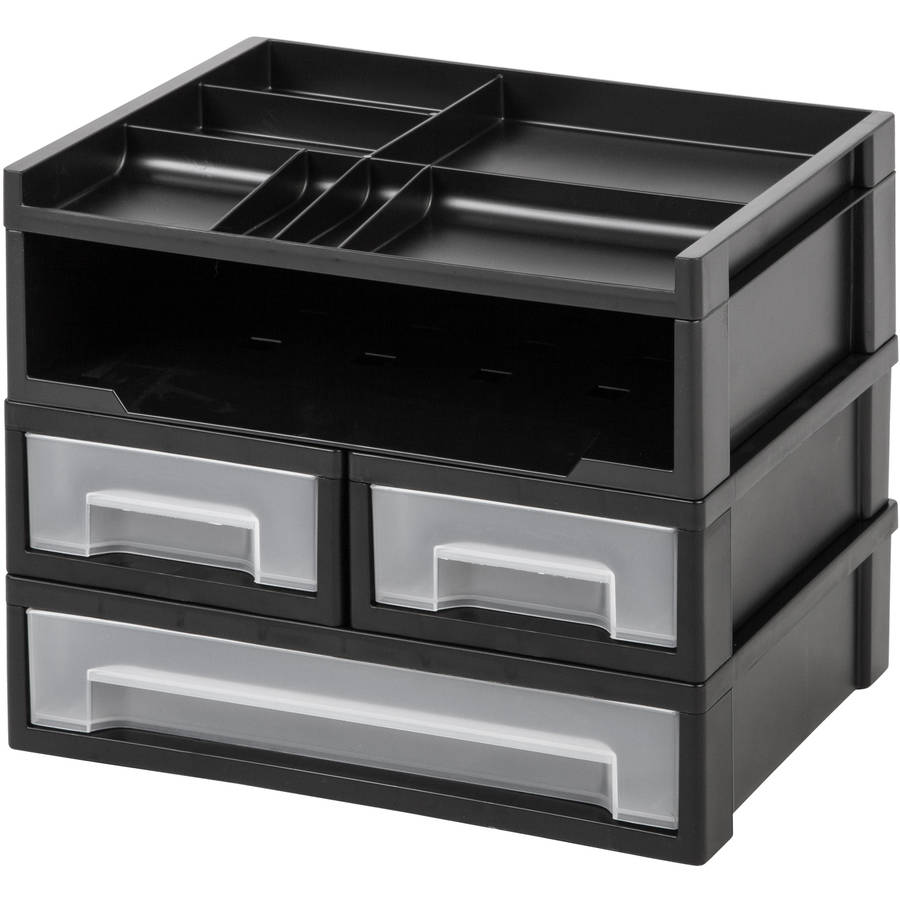IRIS USA, Inc.  5-Piece Desk Top Organizer, Black