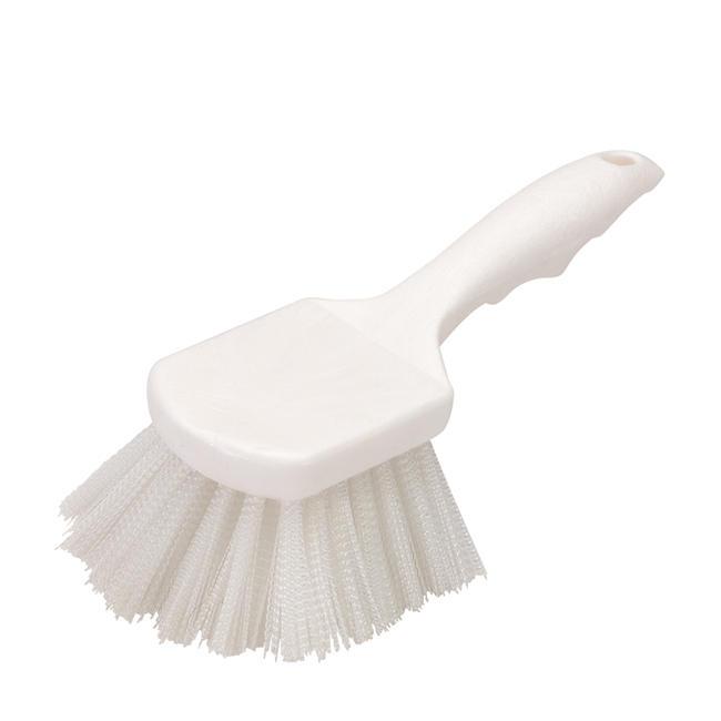 "Carlisle 3662000 Flo-Pac Plastic Handle Utility Scrub Brush, Nylon Bristles, 2""... by Carlisle Foodservice"