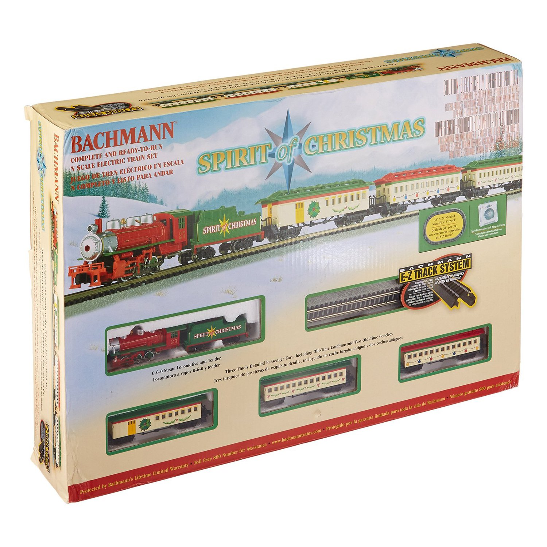 Bachmann Trains Spirit Of Christmas, N Scale Ready-to-Run Electric Train Set by Bachmann