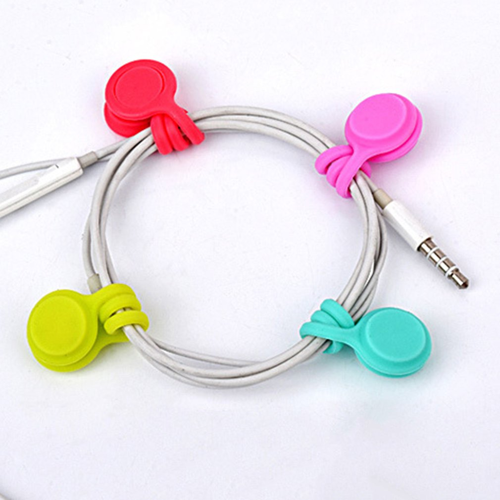 New Cute Gift Magnetic Headphone Cable Wrap Ties Holder Cord Winder 3pcs//pack
