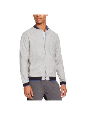 Kenneth Cole Mens Ribbed Trim Varsity Jacket