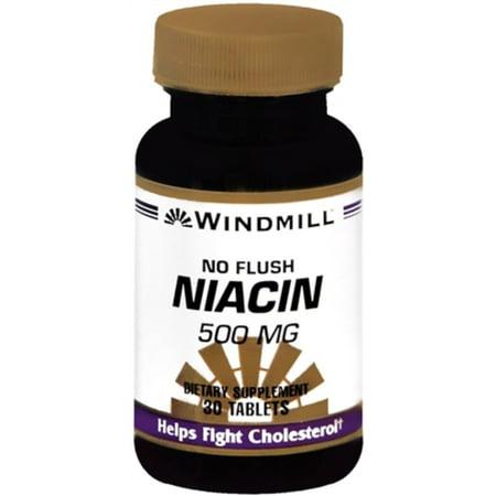 Windmill Niacin 500 mg Tablets No Flush 30 Tablets
