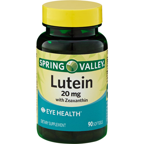 Spring Valley Natural Lutein with Zeaxanthin Dietary Supplement Softgels, 20 mg, 90 count