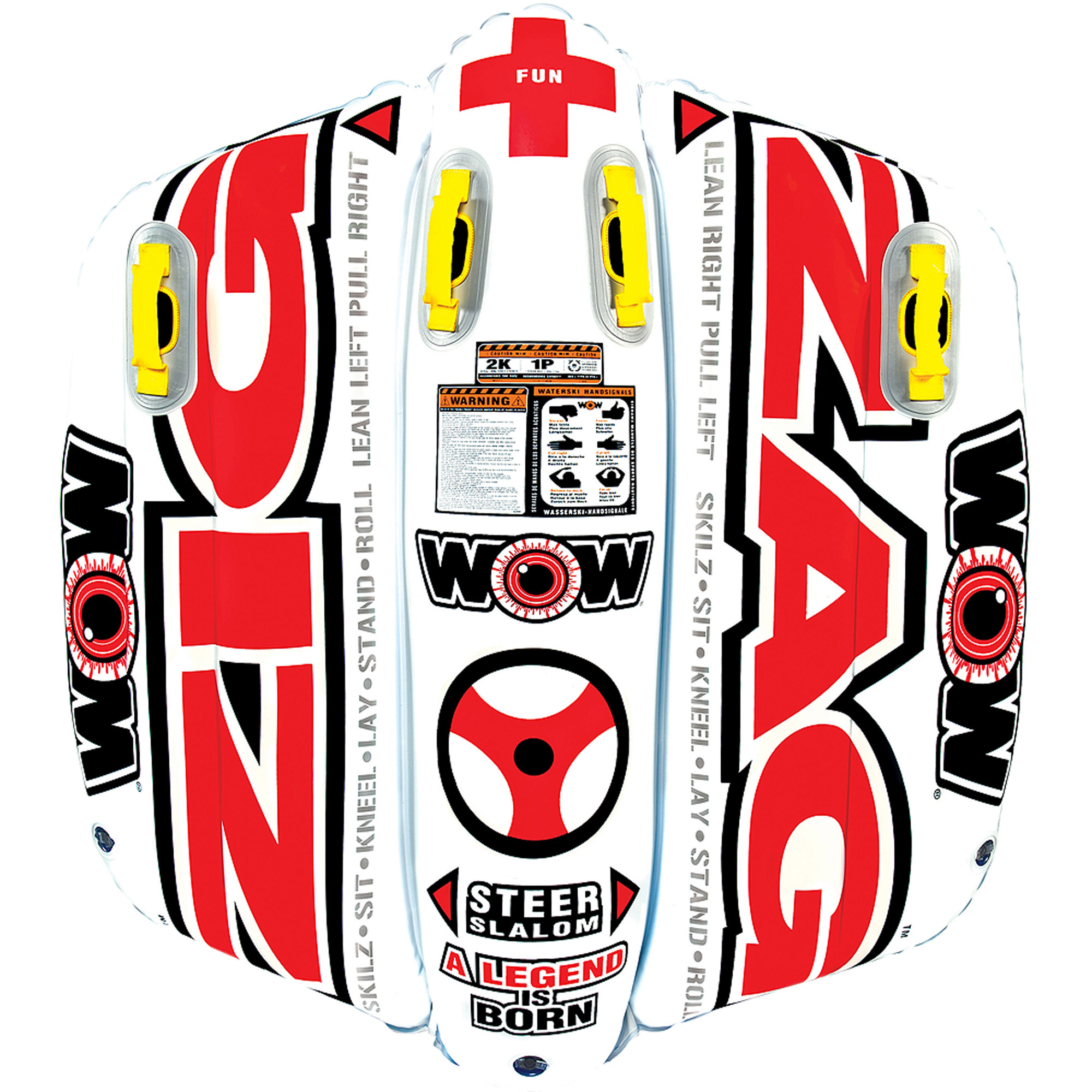 WOW World of Watersports 12-1050 Zig Zag 2-Rider Towable