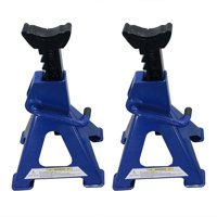 Ktaxon Adjustable Car Lift lifting jack 1 Pair of 3-Ton Jack Stands Blue