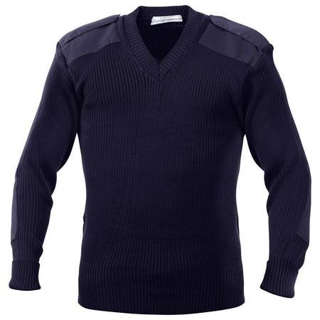 Rothco G.I. Style Acrylic V-Neck Sweater - Navy Blue, 4X-Large - Acrylic Sweaters