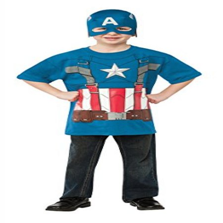 Rubies Captain America: The Winter Soldier Retro Style Costume Top and Mask, Child Large - Captain America Winter Soldier Costume For Sale