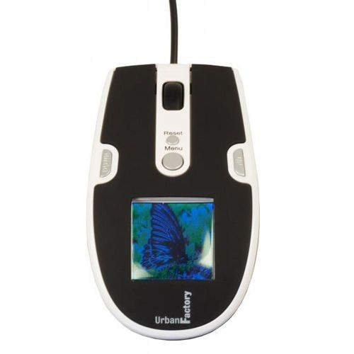 Urban Factory MDG01UF Photo Mouse - Optical - Cable - USB - 800 dpi - Scroll Wheel - 3 Button(s)