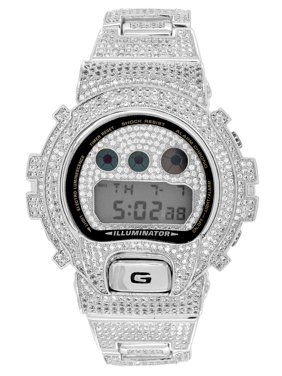 1f7b55f49e9b Product Image Designer G Shock Watch Iced Out Black Finish DW6900 Simulated  Diamonds Sale