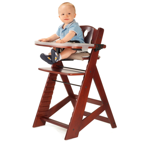 Keekaroo Height Right High Chair w  Feeding Tray Mahogany by Keekaroo