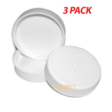 - 3PK Lot Replacement Screw-On Cap Caps 3 & 5 Gallon 48mm Water Bottle Made USA