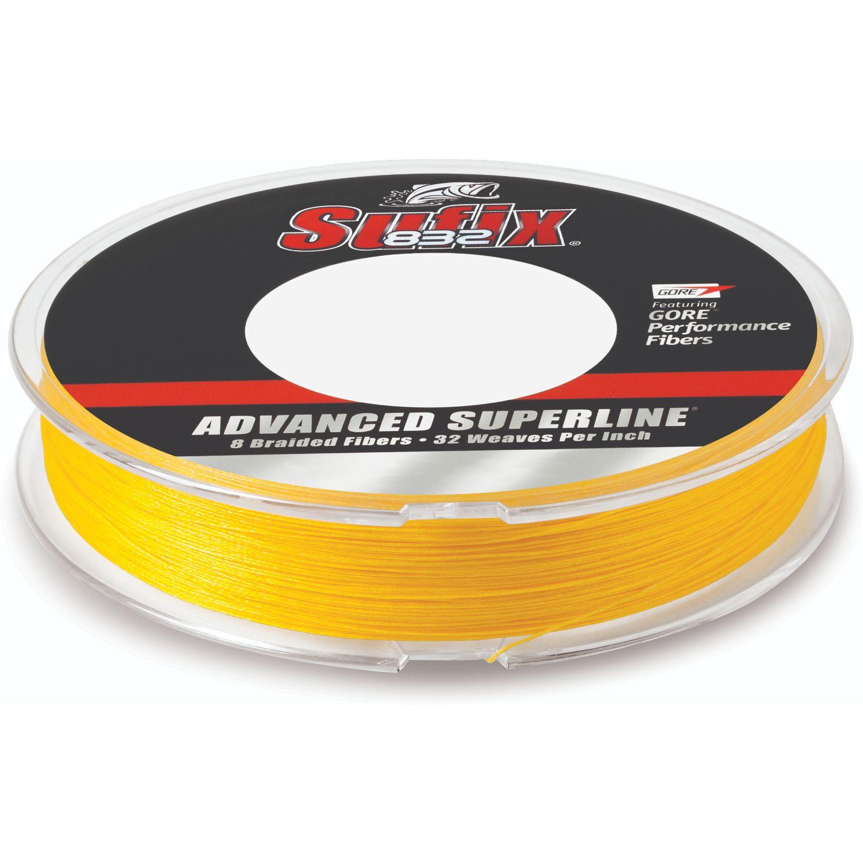 New Sufix Superior Monofilament Line 25 lb 535 Yards Hi-Vis Yellow