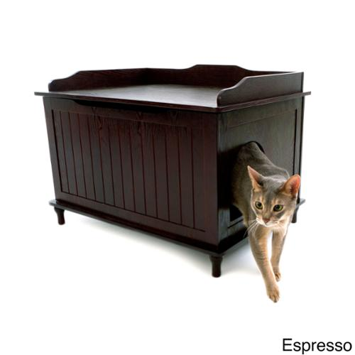 Designer Catbox Hidden Litter Box Enclosure Furniture Espresso