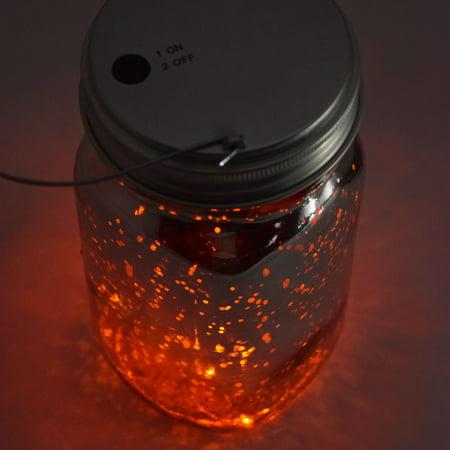 MoonBright LED Mason Jar Lights, Battery Powered for Regular Mouth - Orange (Lid Light Only) by PaperLanternStore](Mason Jar Lights For Sale)