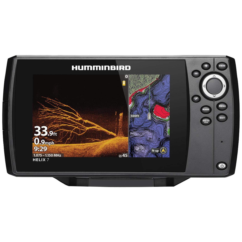 Humminbird 411070-1 HELIX 7 CHIRP Sonar G3N Dual Spectrum Combo  Fishfinder/GPS/Chartplotter with MEGA Down Imaging & 7
