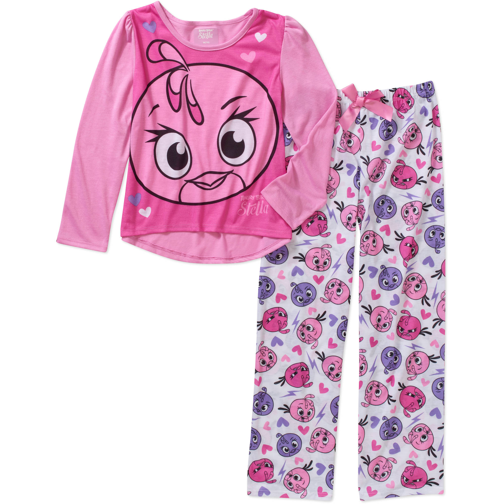Girls' Angry Birds Stella 2 Piece Sleepwear Set