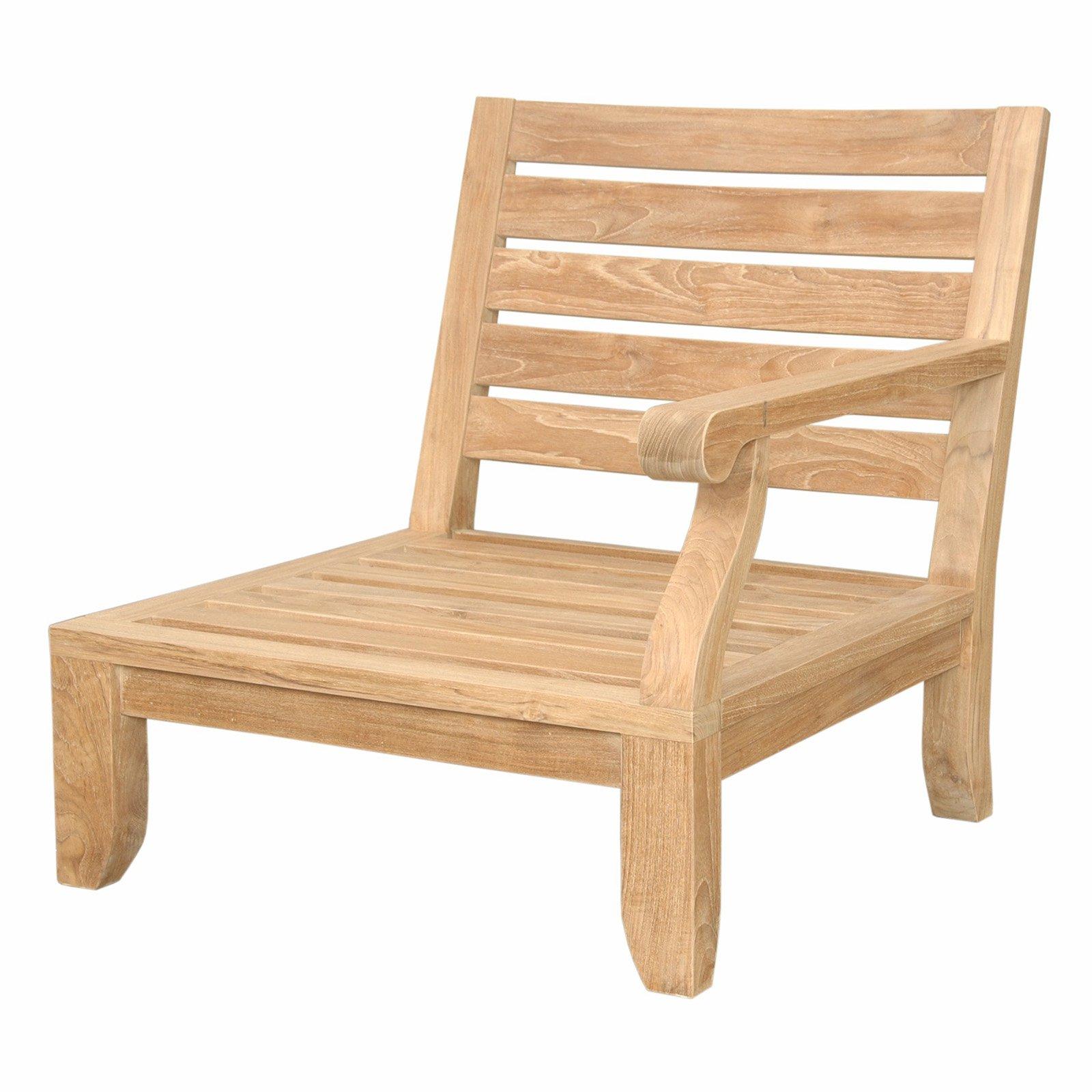Anderson Teak Riviera Luxe Left Facing Outdoor Modular Chair
