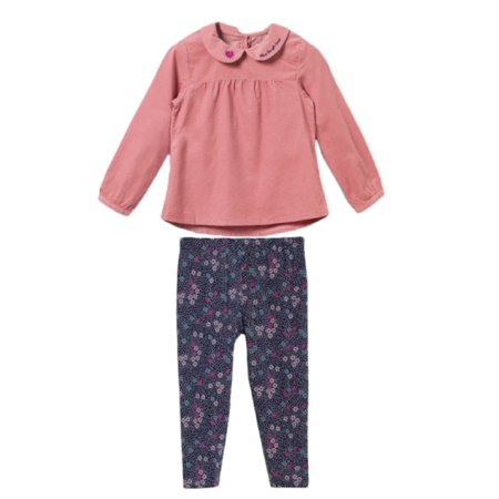 9827392354e02 Bossini Girls 2 Pack Casual Floral leggings & Pink Princess Shirt -  Walmart.com